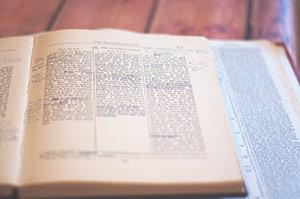 Bible written in